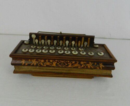 Rare Antique Flutina Accordion 19th Century Bisonoric Diatonic Working Order