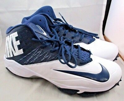 c2a7b32d78e43 NIKE Zoom Code Elite Destroyer Football Cleats Navy   White Size  17W   604618