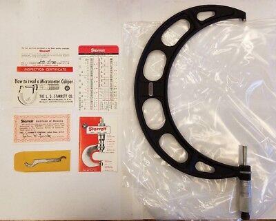 Starrett 436rl-10 Micrometer 9-10 .001 Graduation W Original Box 1-e0007