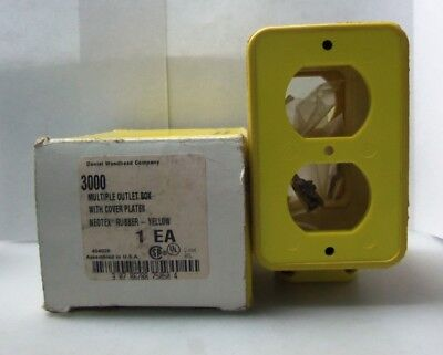 New Daniel Woodhead 3000 New Neotex Multiple Outlet Box With Cover Plates 3000 N