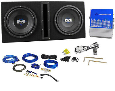"MTX Magnum MB210SP 800w Dual 10 ""Subwoofer + Belüftete Subbox / Amp-Paket + Amp-Kit"