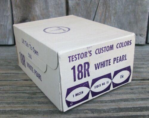 Old Testors Ed Roth WHITE PEARL Custom Paint Original Box 12 Bottles SEALED