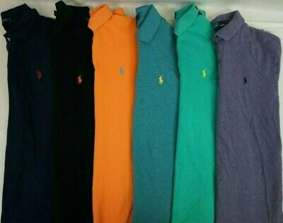 Mens POLO RALPH LAUREN Polo Shirts Lot of 6 Random Short Slv BEST DEAL!