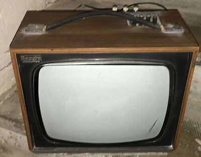 TELEVISIONE TELEVISORE BECCHI ELETTRONICA 14 POLLICI VINTAGE CASSA LEGNO 1970  usato  Cenacchio