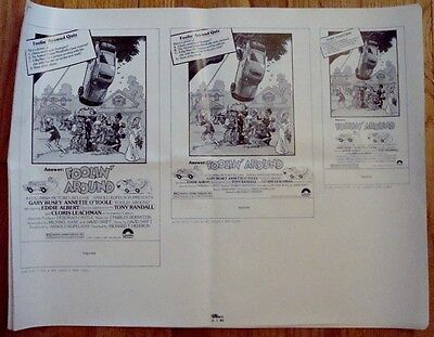 FOOLIN' AROUND Large Pressbook COMPLETE 1980 Press book Gary Busey