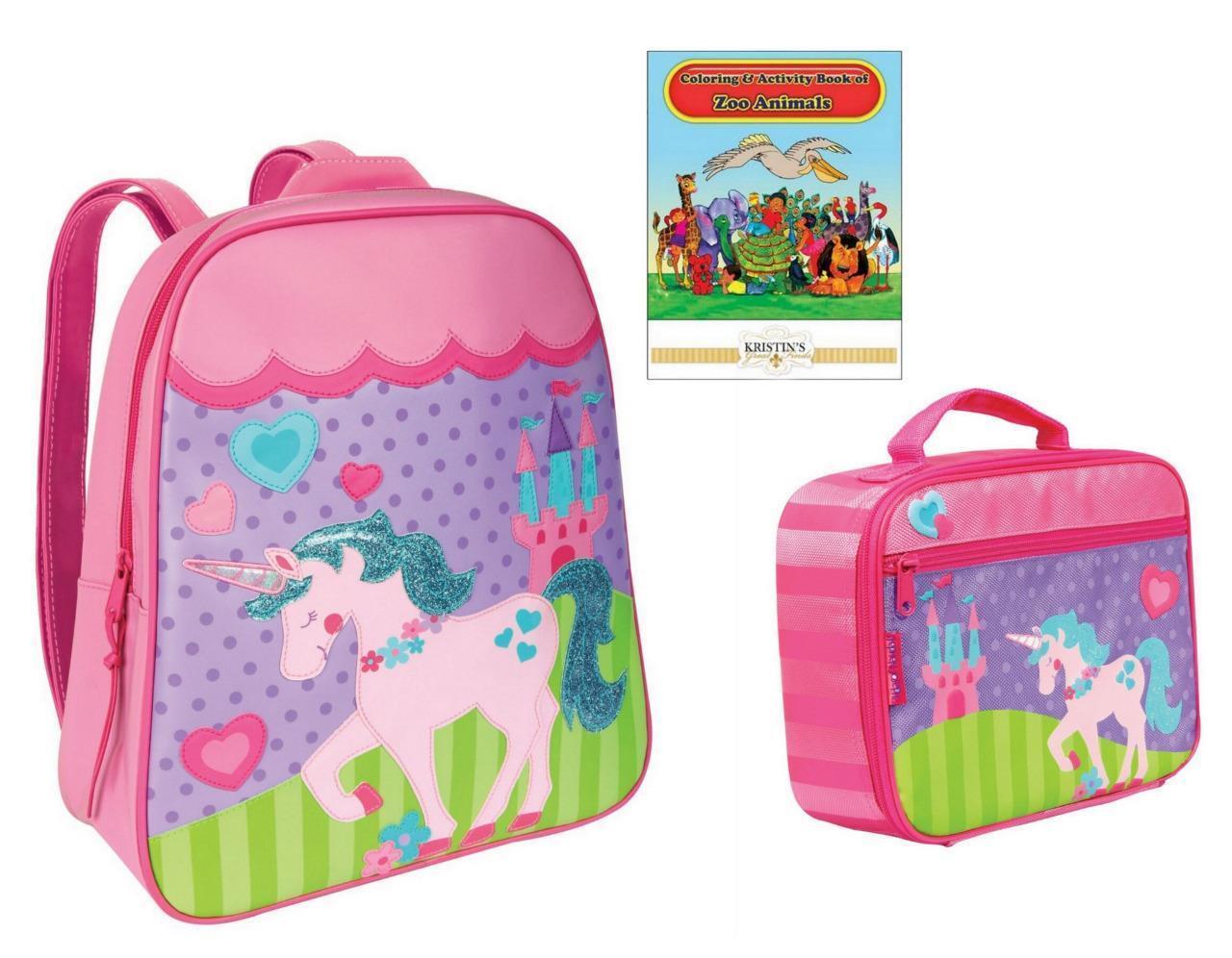 Stephen Joseph GO GO Backpack Lunch Box Set Kids Toddler Sch
