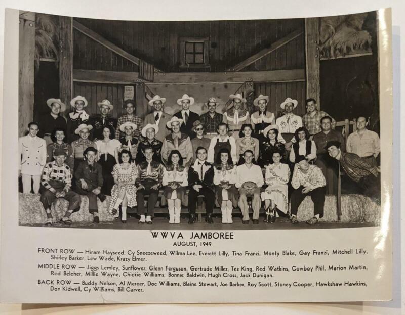 IDENTIFIED 1949 WWVA JAMBOREE HILLBILLY COUNTRY MUSIC PHOTO, w HAWKSHAW HAWKINS