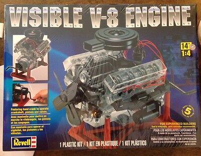 Revell 1/4 Visible V-8 Engine Plastic Model Kit 85-8883