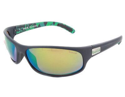 Bolle Anaconda Sunglasses - 12081 - Matte Blue/Green w/ Polarized Brown Emerald