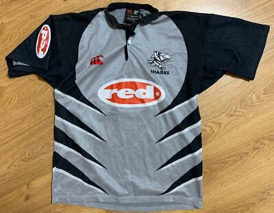 Canterbury Natal Sharks Rugby Men/'s SS Poly Training Shirt Jersey New