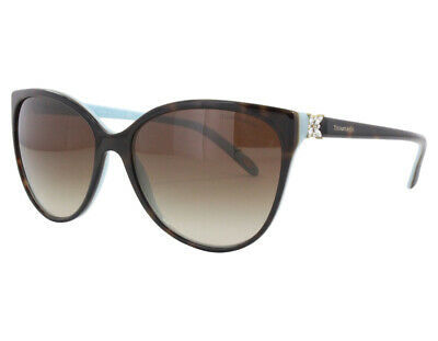 NWT TIFFANY & Co Sunglasses TF 4089B 81343B havana/blue/brown gradient 58mm (Tiffany Mens Sunglasses)