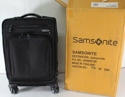 "Samsonite Premier NXT 2 PC 20"" Spinner Luggage & Backpack Set Black New"