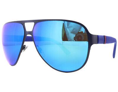 GUCCI Men's Sunglasses GG 2252/S R63Z0 Matte / Blue Mirror Aviator (62mm Aviators)