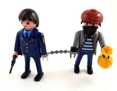 POLICEMAN & ROBBER THIEF FIGURE for Police Jail Station Playmobil
