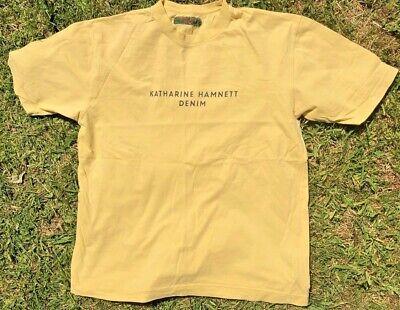 Katharine Hamnett Denim Yellow Vintage Mens T-shirt Top Medium