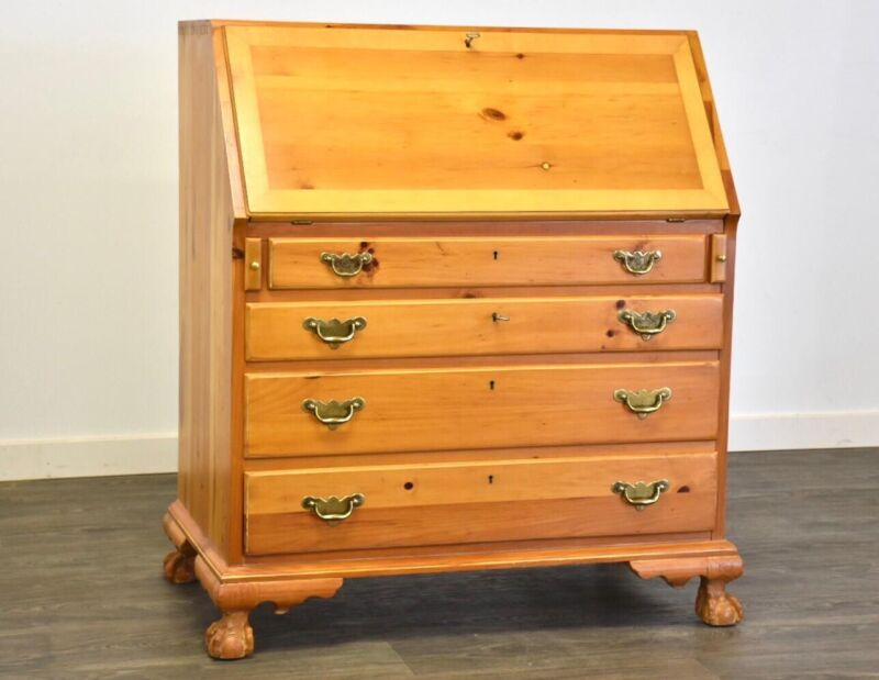 Solid Pine Secretary Desk by Lexington