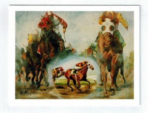 New Racehorse Horse Racing Notecard Set 12 Note Cards By Ruth Maystead RHOS-2