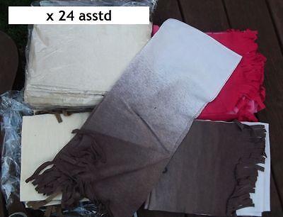 24 fleece scarves assorted colours. Wholesale Joblot Clearance Bankrupt mens