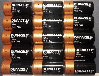 Duracell 2/3A 3 Volt Lithium Battery Batteries DL2/3 Camera, Photo ( 15 Pack ) ()