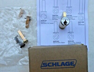 Schlage Primus Cylinder Lock No Key  New