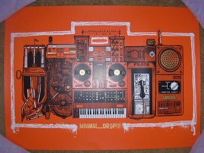 THE BEASTIE BOYS concert gig poster MMMM DROP Beat Box RUST Variant Karl Tagle