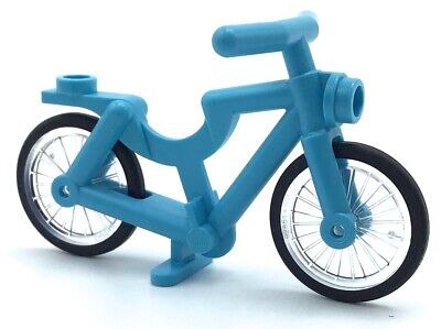 LEGO BLUE BYCYCLE MINIFIGURE ACCESSORY PART BIKE TOWN PIECE for sale  Shipping to India