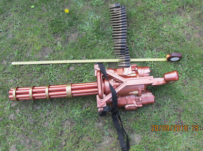 STEAMPUNK adapted META MEGA GATLIN GUN BELT FED SOUND LIGHT GOOD larp cosplay
