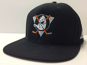 promo code b453f c35d3 Anaheim Mighty Ducks Adidas NHL Snapback Adjustable Hat Flat Brim Cap
