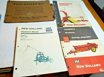 New Holland 331 Manure Spreader Owners Operators Manual Model 601 611 451 456