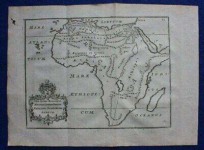 AFRICA, original antique map, POMPONIUS MELA, John Reynolds edition, 1789