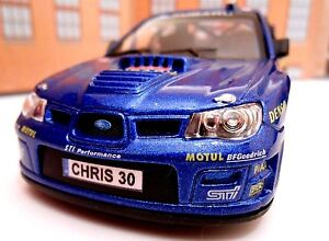 PERSONALISED PLATES SUBARU IMPREZA RALLY Toy Car MODEL boy dad gift NEW