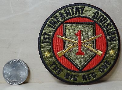 "1ST INFANTRY DIVISION THE BIG RED ONE IRON-ON EMBROIDERED PATCH 3""x 3"""