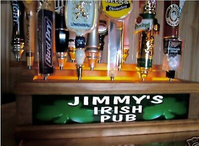 Personalized Lighted IRISH PUB 18 beer tap handle -