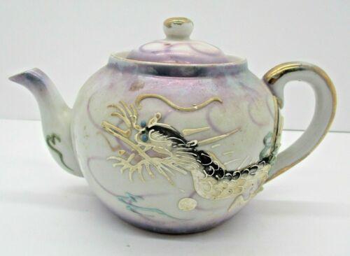 Vintage Dragonware Moriage Dragon Handpainted Teapot Fuji Japan