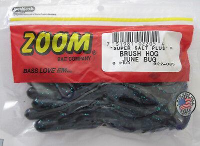 Zoom Super Salt Brush Hog Green Pumpkin//Blue Flash New in pack of 8  022-294