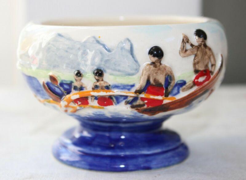 Rare Vintage Johnny Quong's The Hawaiian Salt Lake City Tiki Mug Outrigger bowl