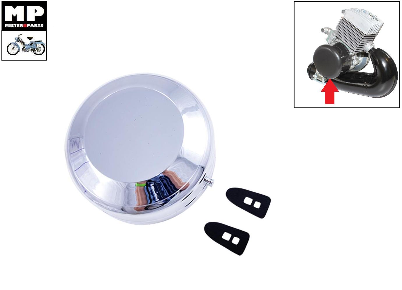 Cache volant magnétique d'allumage mobylette motobecane 51v + 2 attaches