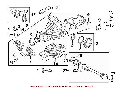 For BMW Genuine Differential Drive Pinion Oil Deflector Rear Outer 33137600693