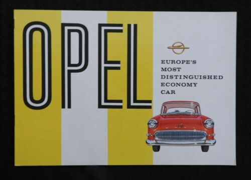 """1958 """"OPEL, EUROPE"""
