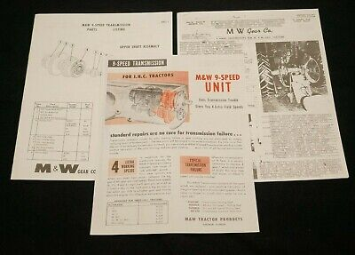 Mw Gear Co. 9 Speed Transmission Ih Farmall H M Super M Mta Manual Set