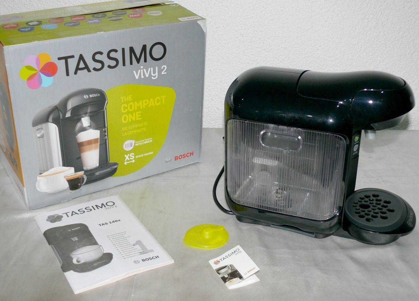 Bosch TAS1402 Vivy2 XS Slim Tassimo Kapsel Kaffeemaschine 1300W 0,7L Black