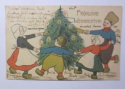 """"""" Natale Bambini Costume Tradizionale Tanzen Ringelreihe Albero di Natale """" 1904"""