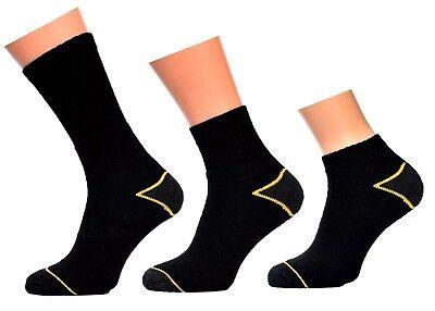 WORK Arbeitssocken 6-24 Paar schwarz Größe 39-50 AUSWAHL Socken Quaters Sneaker 24