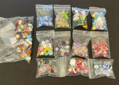 Large Lot of 175+ Beautiful Unique Handmade Lampwork Glass Beads 11 Sets