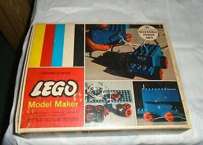 LEGO 107- 4.5v Motor Set vintage with box-INSTRUCTIONS . REVERSIBLE POWER UNIT