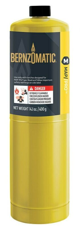 BERNZOMATIC 14.1oz. MAP-Pro Disposable RTU High Heat Brazing Torch Fuel Cylinder