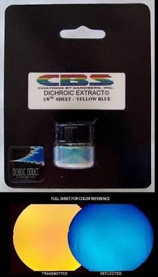 CBS Dichroic Extract Yellow/Blue 1/8 Sheet