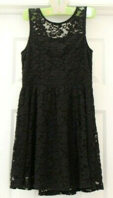 Abercrombie Kids BLACK FANCY DRESS sz 9 10 Girls Flower Party Dress EUC