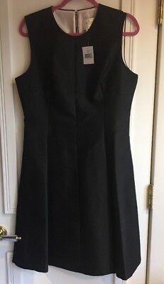 Kate Spade Emma Dress All That Glitters Solid Black Size 14 Silk Cotton (Glitter Emma Dress)