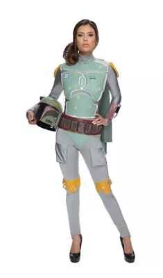 Stars In Halloween Costumes (NEW in Package Rubies Star Wars Boba Fett Female Adult Costume Sz L Large)